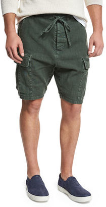 Vince Drop-Rise Military Cargo Shorts $225 thestylecure.com