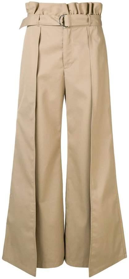 Gabardine Culotte Pants