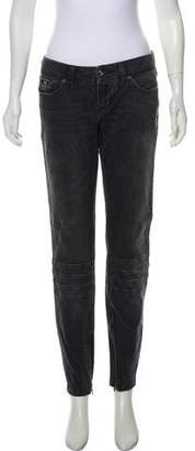 Dolce & Gabbana Distressed Low-Rise Skinny Jeans