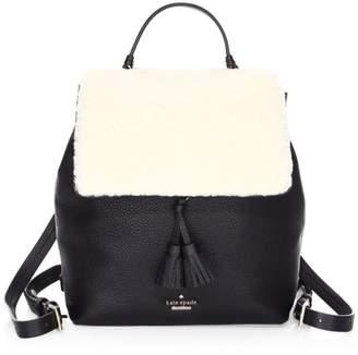 Kate Spade Hayes Street Shearling Backpack