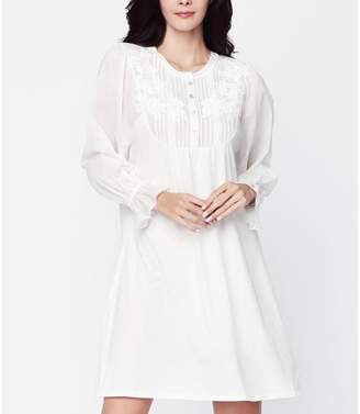 ec18aca2a3 Long White Cotton Nightgown - ShopStyle