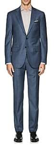 Isaia Men's Sanita Wool Twill Two-Button Suit - Blue