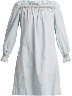 MiH Jeans Reyes smocking-detailed linen-blend dress