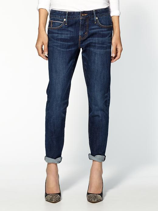 Levi's Cropped Selvedge Boyfriend Skinny Jeans