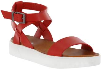0a93c36c557 at QVC · Mia Shoes Flat Ankle Strap Sandals - Calla
