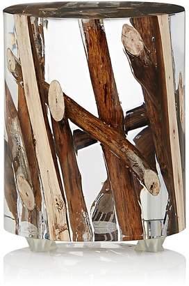Bleu Nature Kisimi Driftwood-Inset Acrylic Objet d'Art