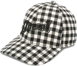 Diesel Check baseball cap with 3D embroidery