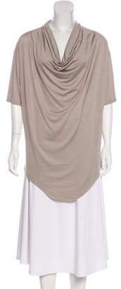 Helmut Lang Silk Jersey Short Sleeve Top