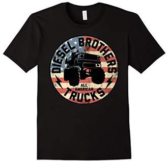 Diesel Brothers Flag Truck Seal Vintage Graphic T-Shirt