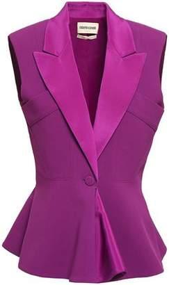 Roberto Cavalli Silk-trimmed Stretch-crepe Vest