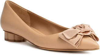 Salvatore Ferragamo Talla 20 beige leather pointed flats