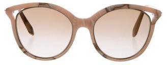 Victoria Beckham Marble Cat-Eye Sunglasses