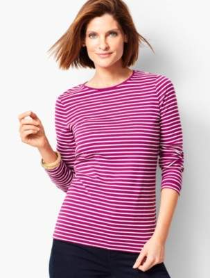Talbots Novelty Long-Sleeve Crewneck - Stripe