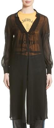 Women's Junya Watanabe Sheer Open Back Georgette Dress $740 thestylecure.com