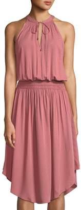 Astr Elisa High-Neck Midi Dress