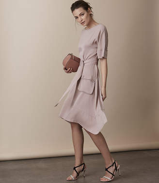 Reiss Mars Belted Dress