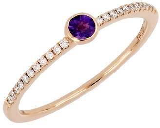 Bony Levy 18K Rose Gold Diamond & Amethyst Stack Ring