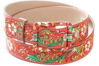 Dolce & Gabbana Printed Buckle Belt