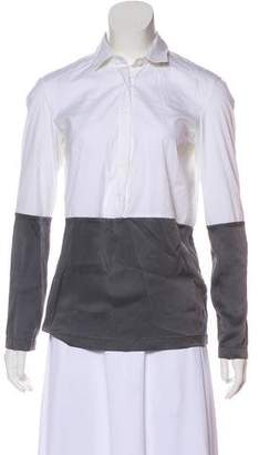 Brunello Cucinelli Long-Sleeve Button-Up Top