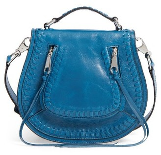 Rebecca Minkoff Small Vanity Leather Saddle Bag - Blue $275 thestylecure.com