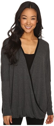 Hard Tail - Long Sleeve Faux Sweater Women's Sweater $100 thestylecure.com