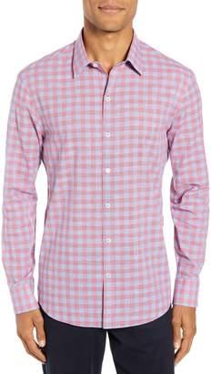 Zachary Prell Delrio Regular Fit Gingham Sport Shirt