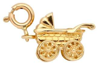 14K Yellow Gold 3-D Baby Carriage