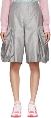 Comme des Garcons Silver Bulbous Shorts