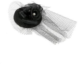 Cream 花チュール帽子 クリーム 帽子/ヘア小物