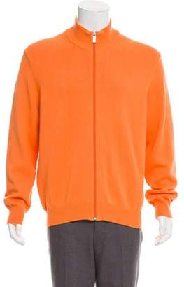 Michael Kors Mock Neck Zip-Up Sweater orange Mock Neck Zip-Up Sweater