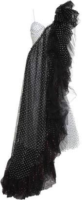 Anaïs Jourden Asymetrical Ruffled Polka-Dot Midi Dress Size: 40
