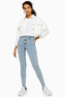 Topshop TALL Bleach Wash Jamie Jeans