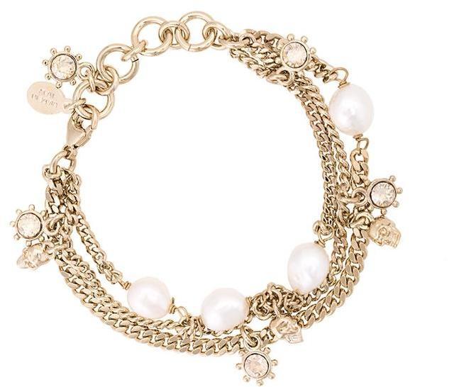 Alexander McQueenAlexander McQueen faux pearl and crystal bracelet