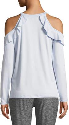 Frill Seeker Cold-Shoulder Top