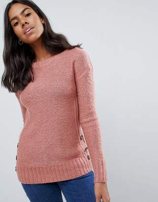 Brave Soul Medlock Mohair Sweater with Side Button Plackets