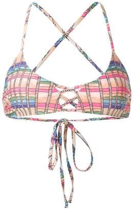 Mara Hoffman basket weave print bikini top