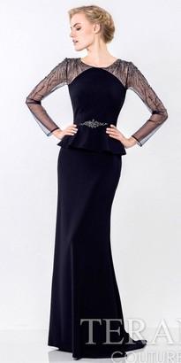 Terani Couture Refined Peplum Evening Dress $482 thestylecure.com