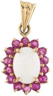 14K Opal & Ruby Pendant