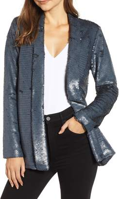 Cupcakes And Cashmere Shawl Collar Sequin Jacket