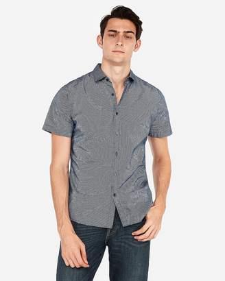Express Slim Dot Short Sleeve Shirt
