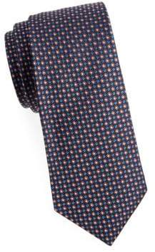 Saks Fifth Avenue Floral Dotted Silk Tie