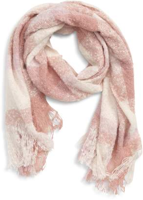 The Accessory Collective Accessory Collective Plaid Oblong Boucle Scarf