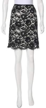 Theory Knee-Length Lace Skirt