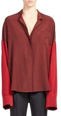 Haider Ackermann Silk Drop Shoulder Blouse