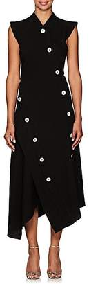Proenza Schouler Women's Button-Detailed Asymmetric Midi-Dress - Black
