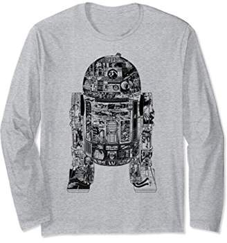 Star Wars Epic R2-D2 Panel Graphic Long Sleeve Tee