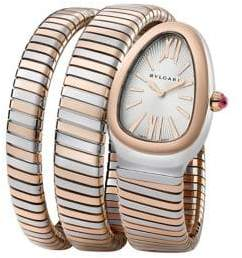 Bvlgari Serpenti Tubogas Rose Gold& Stainless Steel Double Twist Watch