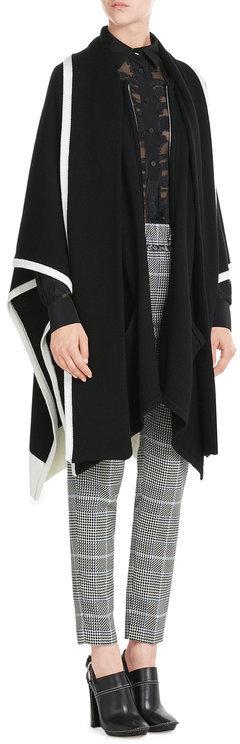 Barbara BuiBarbara Bui Two Tone Wool Cape