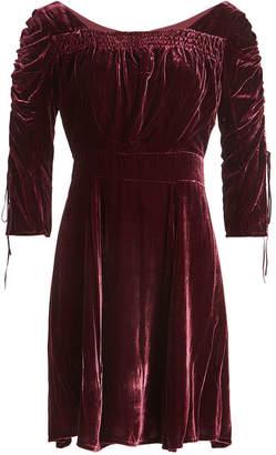 The Kooples Velvet Dress with Silk