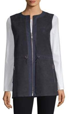 Lafayette 148 New York Lavine Perforated Vest